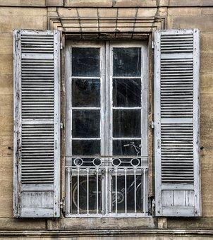 Window, Old, Pane, Facade, House, Former, Wood