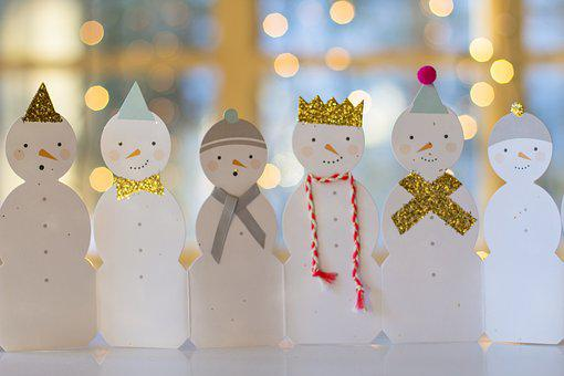Snowman, Winter, Background, Christmas, Celebration