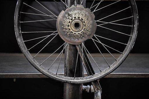 Wheel, Spoke, Axis, Bike, Steampunk, The Decor Cafe