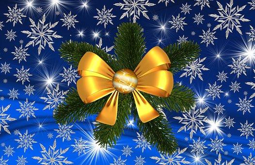 Christmas, Star, Snowflake, Winter, Celebration