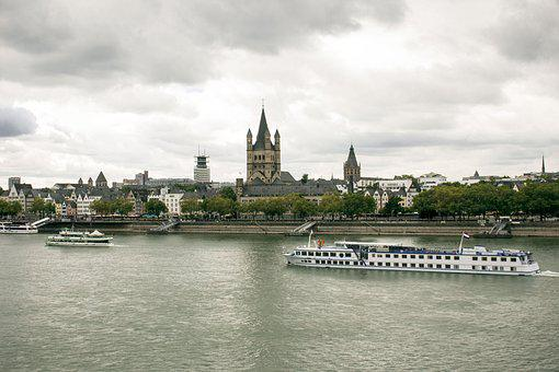 River, Travel, Architecture, Water, City, Rhine