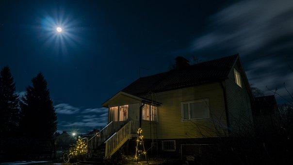 Full Moon, Horror House, Spooky, Haunted, Dream