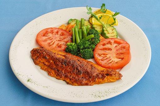 Food, Plate, Meat, Meal, Dinner, Dish, Vegetable