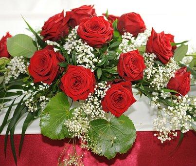 Rose, Bouquet, Wedding, Arrangement, Love