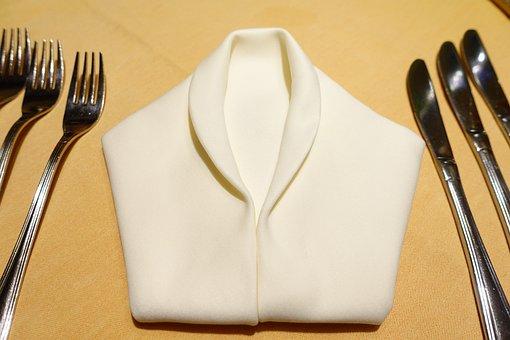 Table, Cover, Napkin, Napkin Folding, Forks, Knife
