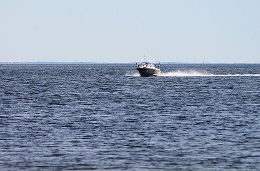 Jetski, Boat, Motorboat, Water, Sailing, Action, Speed