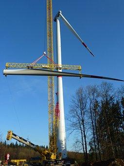Pinwheel, Construction, Building, Crane, Work, Site