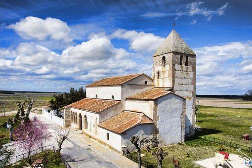 Church, Clouds, Sky, Spain, Landscape, Temple, Religion
