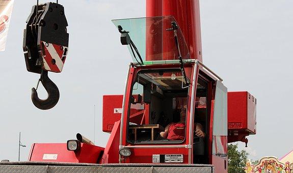 Crane, Hook, Load Crane, Cargo Transport, Hoist Rope
