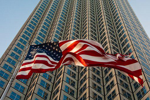 Miami, Skyscraper, Flag, U S