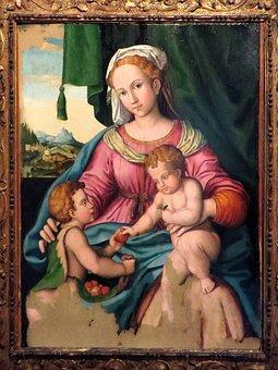 Italy, Bologna, Santo Stefano, Table, Painting
