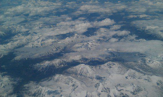 Land, Top View, Mountains, Height, Journey, Clouds