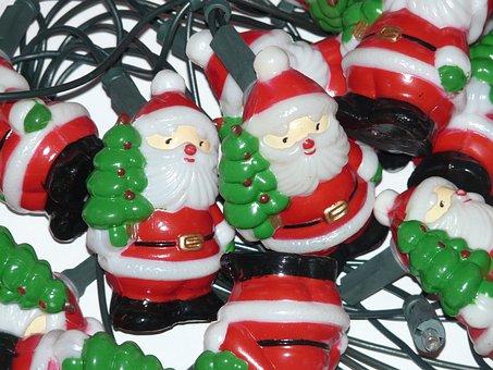 Santa Clauses, Lichterkette, Christmas Ornaments