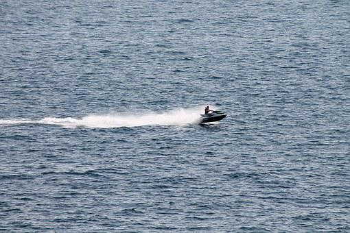 Jetski, Action, Motorboat, Boat, Sail, The Sea, Water