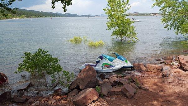 Jet Ski, Lake, Water, Summer, Ski, Speed, Fun, Sport