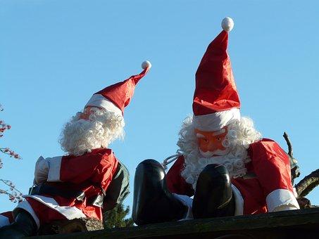 Santa Clauses, Ziipfelmuetzen, Christmas, Dolls