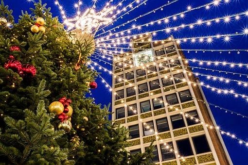 Christmas, Christmas Market, Düren, Christmas Tree