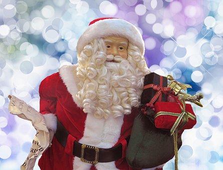 Santa Claus, Christmas, Winter, December, Season, Beard