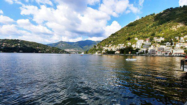 Water, Nature, Travel, Panoramic, Lake, Como, Comosee