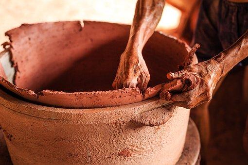 Pottery, Craft, Workers, Pot, Art, West, Wheel, Artist