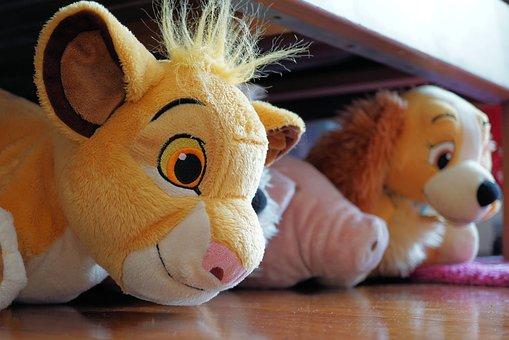 Stuffed Animal, Animal, Cute, Toys, Background, Lion