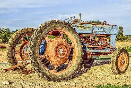 Tractor, Wheels, Farm, Countryside, Agriculture, Rural