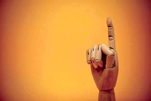 Finger, Forefinger, Gesture, Up, Pointing, Point