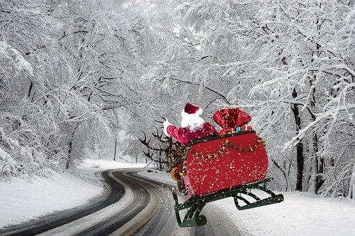 Christmas, Father Christmas, Merry Christmas, Gifts