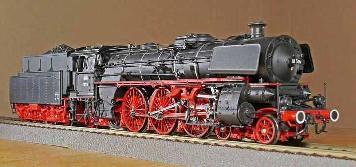 Steam Locomotive, Model, Scale H0, Badischer Renner
