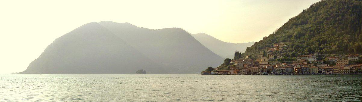 Iseo Lake, Montisola, Landscape, Panoramic, Nature