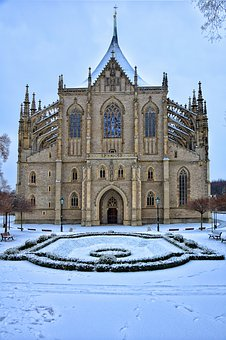 Temple, Park, Snow, Church, The Temple Of St Catherine