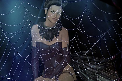 Web, Woman, Artistic, Creative, Fantasy, Surreal