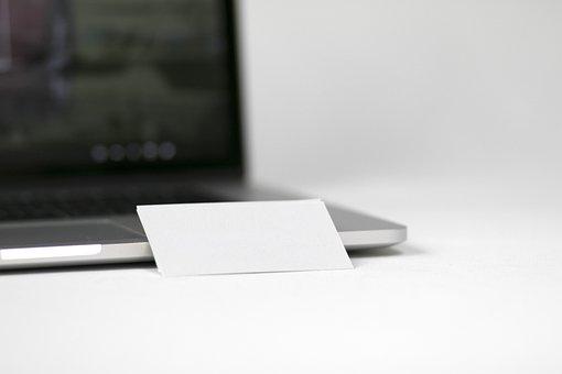 Laptop, Blank, Business Cart, Technology, Display