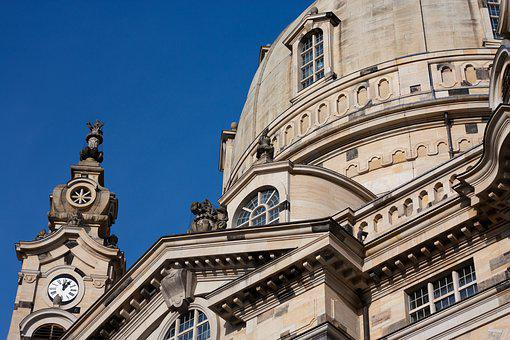 Dresden, Frauenkirche, Germany, Building, Church