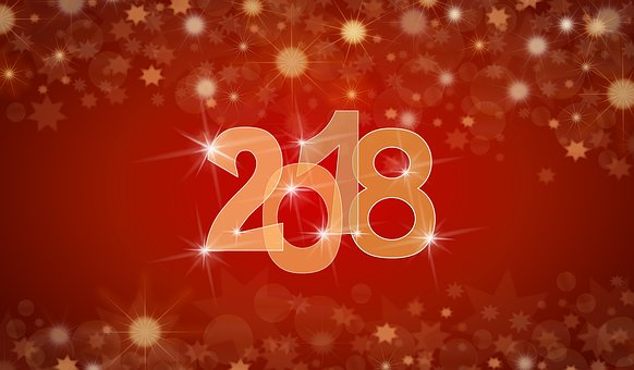 New, Year, 2018, Background, Happy New Year