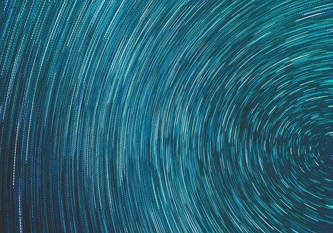 Spiral, Night, Starry Sky, Stars, Heavenly, Blue