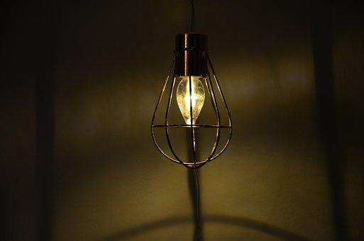 Lichterkette, Light, Light Bulb, Grid, Wall, Lighting