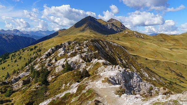 Mountain, Trail, Away, Hiking, Hike, Wanderer