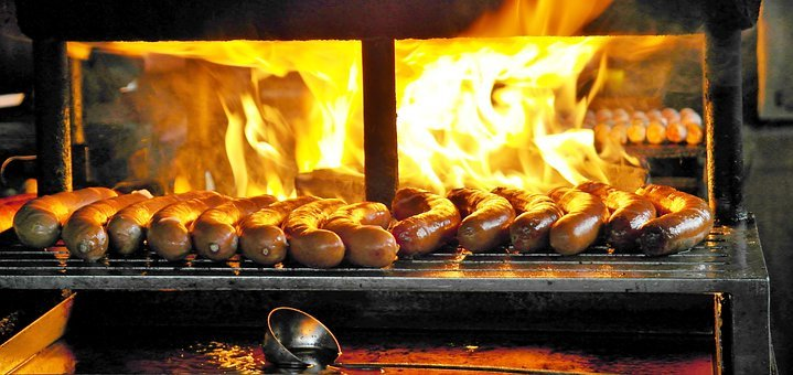 Bratwurst, Grill, Barbecue, Sausage, Smoke, Cured Meats