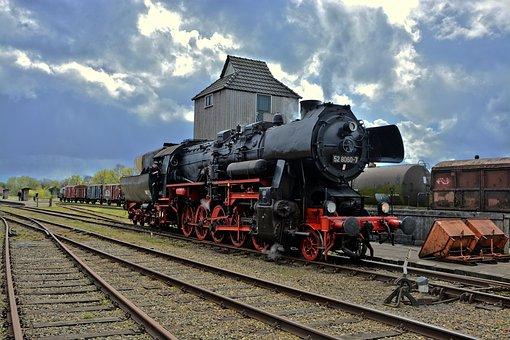 Locomotive, Steam Locomotive, Train, Railway