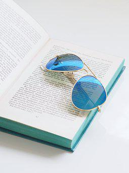 Summer, Sunglasses, Book, Fashion, Beach, Creative