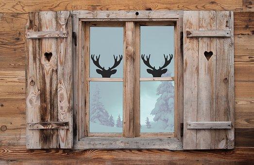 Window, Mirroring, Wood, Wooden Windows, Reflection