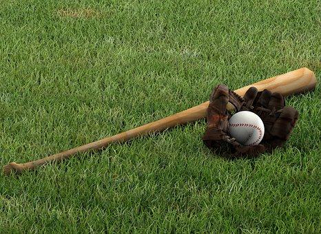 Baseball, Glove, Bat, Rush, Mitt, Sport, Background