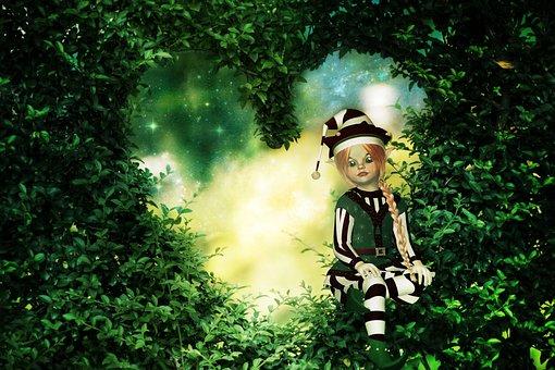 Fairy Tale, Heg, Green, Eleven, Gnome, Fantasy, Vista