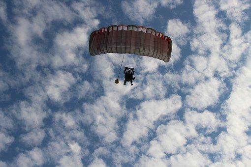 Parachute, Sports, Sky