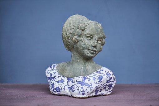 Sculpture, Art, Portrait, Women's, Model, Ornament