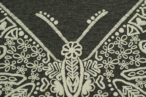 Butterfly, Design, Model, Textile, Grey, Texture