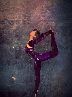 Move Your Body, Purple, Wall, Dancer, Ballerina