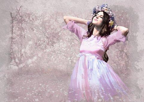 Woman, Beautiful, Fashion, Dress, Outdoors, Portrait