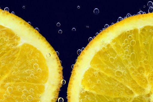 Orange, Orange Slices, Blow, Blubber, Water Bubbles